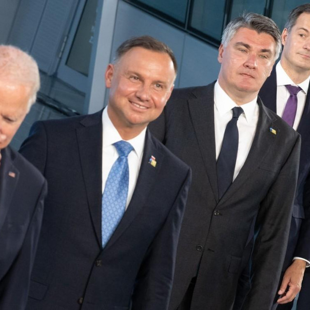 Joe Biden, Rumen Radev, Zoran Milanović, PAlexander De Croo i Mario Draghi