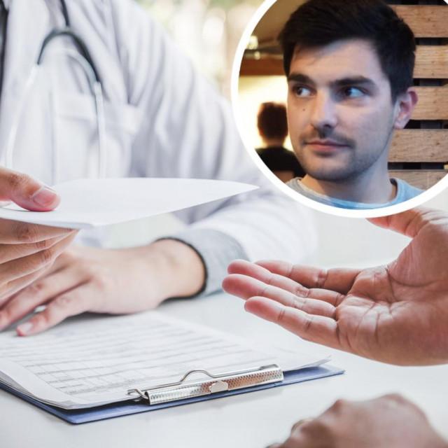 Ilustracija liječničkog pregleda i Zrin Pezer u krugu