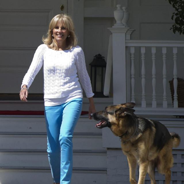 Jill Biden i Champ