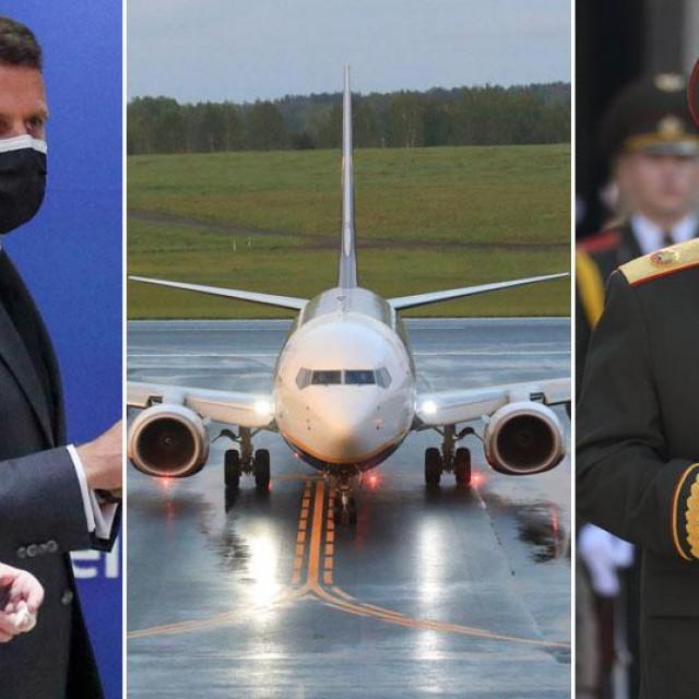Angela Merkel, Emanuel Macron, avion Ryanaira i Aleksandar Lukašenko