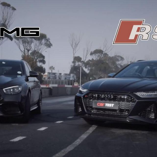 Mercedes E63 S AMG i Audi RS6 Avanat