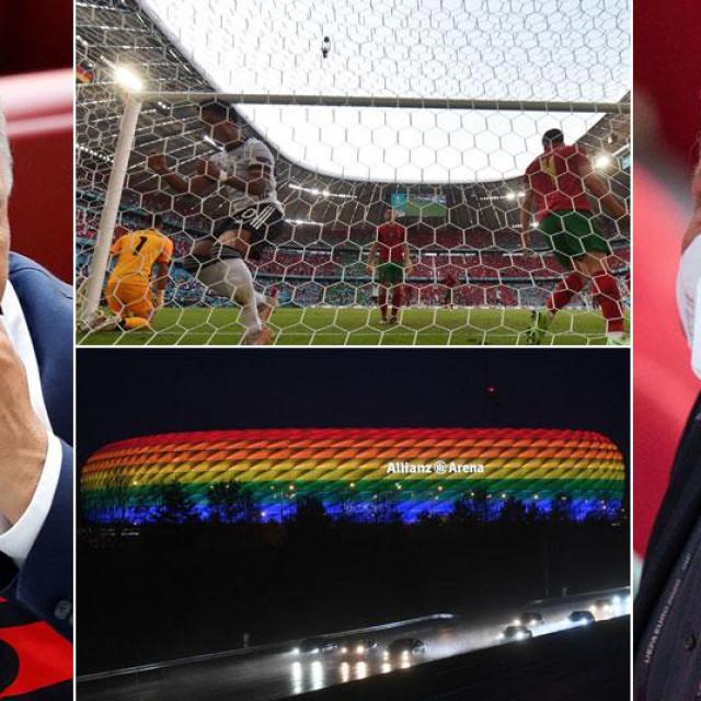 Allianz Arena neće svijetlitiu duginim bojama (na slici Viktor Orban i Dieter Reiter)
