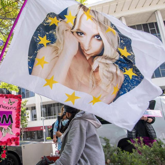 Prosvjed podrške Britney Spears pred sudnicom