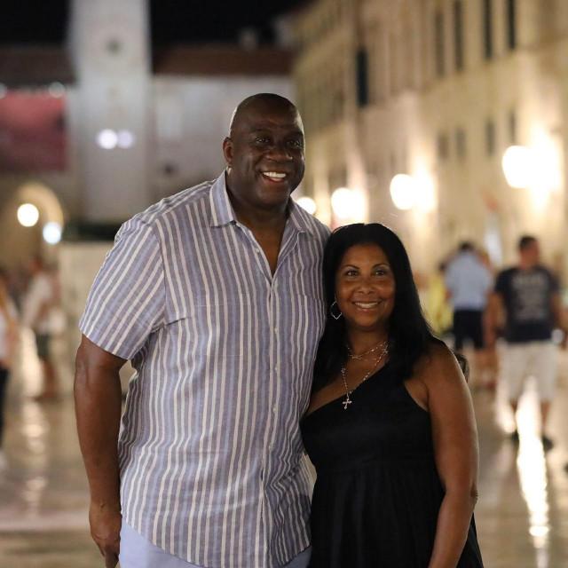 Magic Johnson i supruga Cookie u kolovozu 2020.