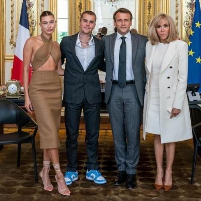 Justin i Hailey Bieber s francuskim predsjedničkim parom