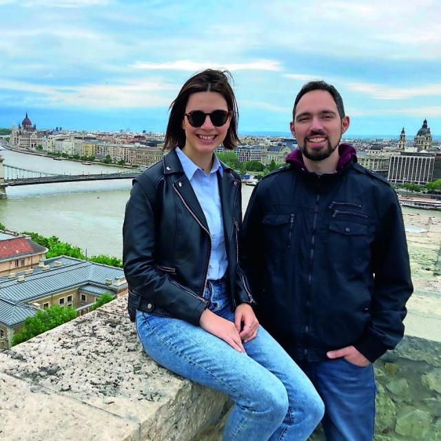 S Ivanom Pešutom na Ribarskoj tvrđavi s koje se vidi cijeli grad.