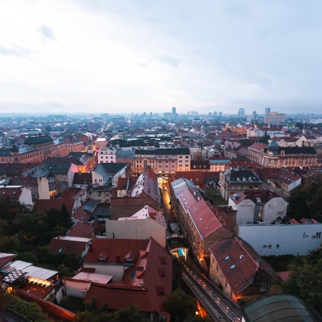Pogled na centar Zagreba