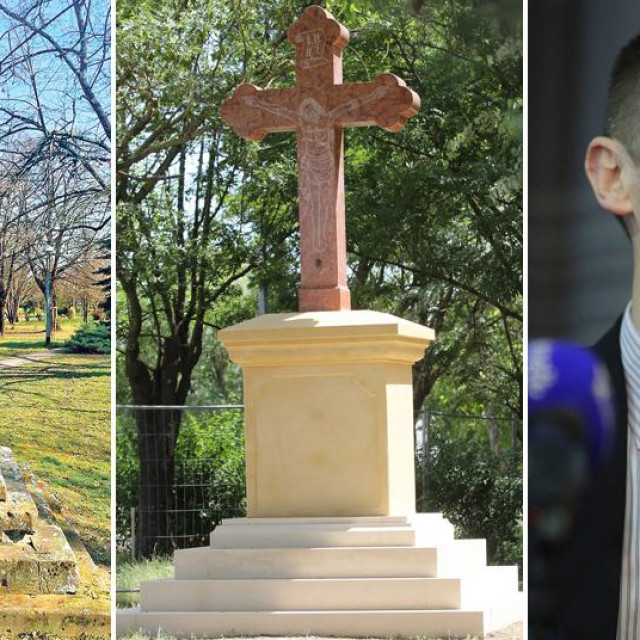 Križ prije i poslije obnove i Ivan Penava