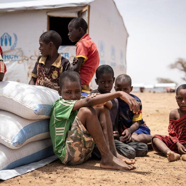 Djeca u izbjegličkom kampu Goudebo na sjeveru Burkine Faso
