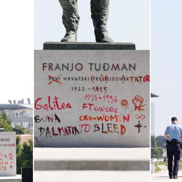 Išaran spomenik Franji Tuđmanu u Zagrebu
