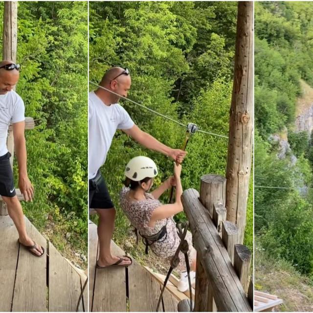 Severina se na Plitvicama spustila ziplineom