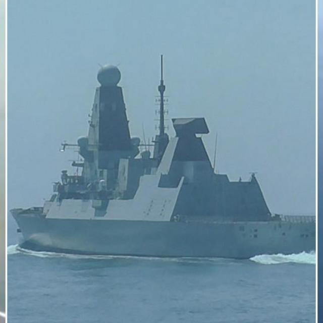 HMS Defender i prizor ispaljenog hica s ruskog patrolnog broda