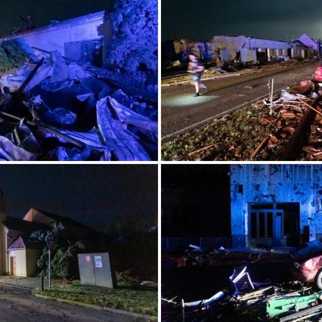 Šteta nakon oluje u mjestu Hrušky