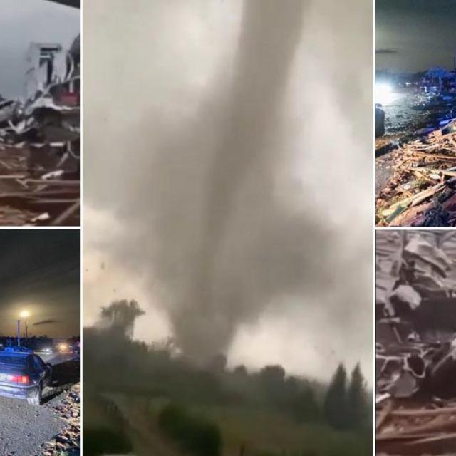 Prizori s juga Češke koji je poharao tornado