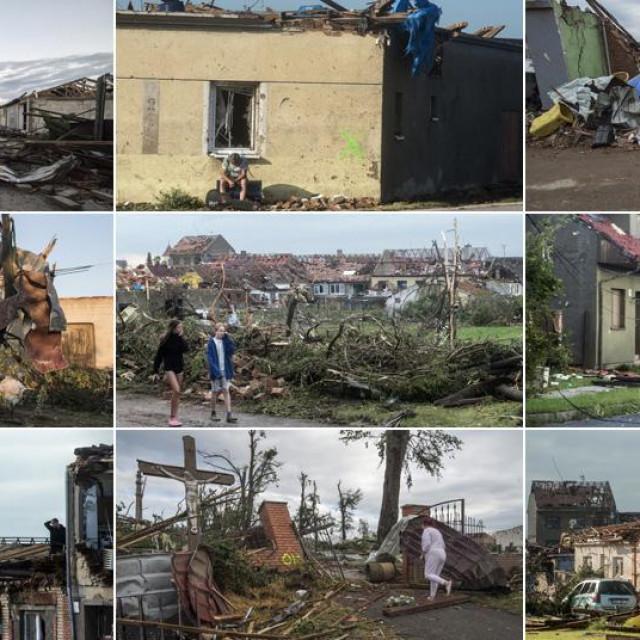 Prizori iz sela Mikulcice u Češkoj nakon razornog tornada