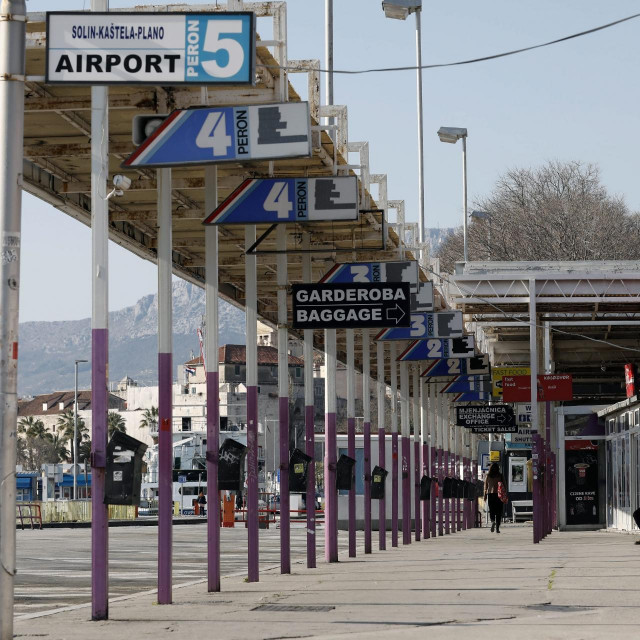 Autobusni kolodvor u Splitu, arhivska fotografija