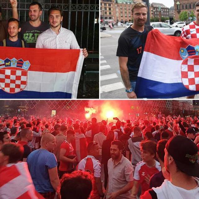Hrvatski navijači u Danskoj i prizor iz Kopenhagena