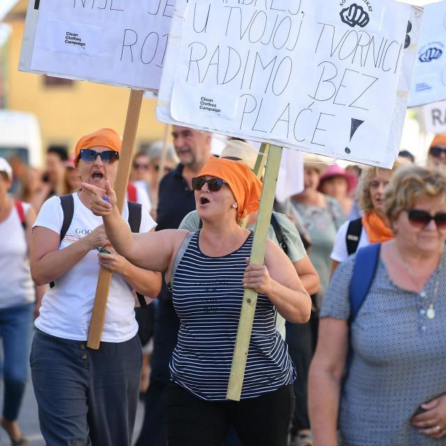 Prosvjed radnica požeške tvrtke Orljava