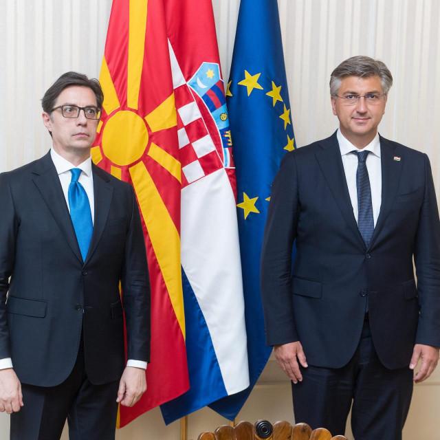 Stevo Pendarovski i Andrej Plenković<br />