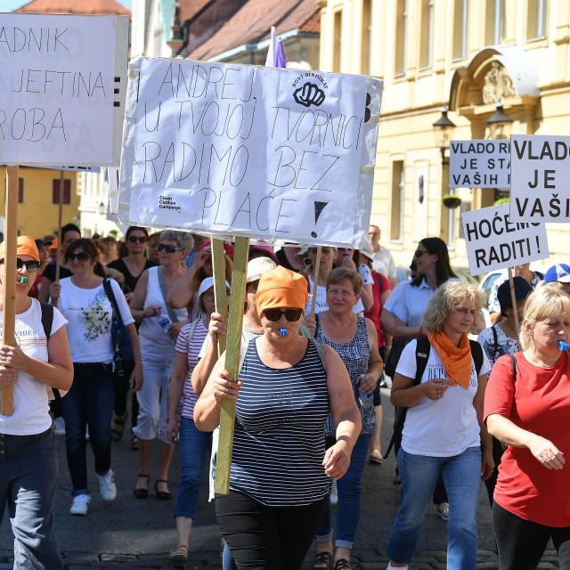 <br /> Prosvjed radnica tvrtke Orljava
