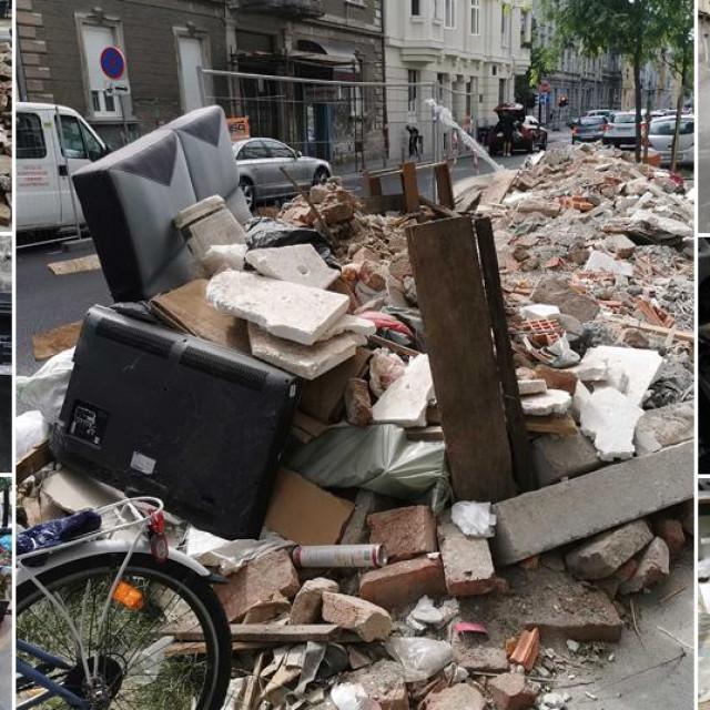 Smeće i šuta razbacani po zagrebačkim ulicama