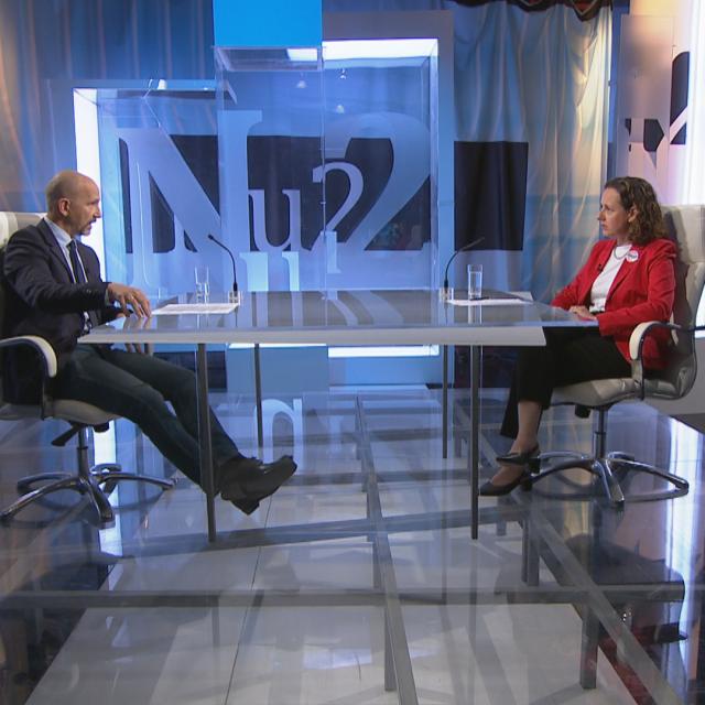 Aleksandar Stanković i Nina Obuljen Koržinek u emisiji Nedjeljom u 2
