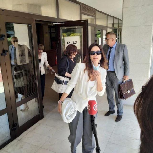 Severina nakon ročišta na splitskom sudu