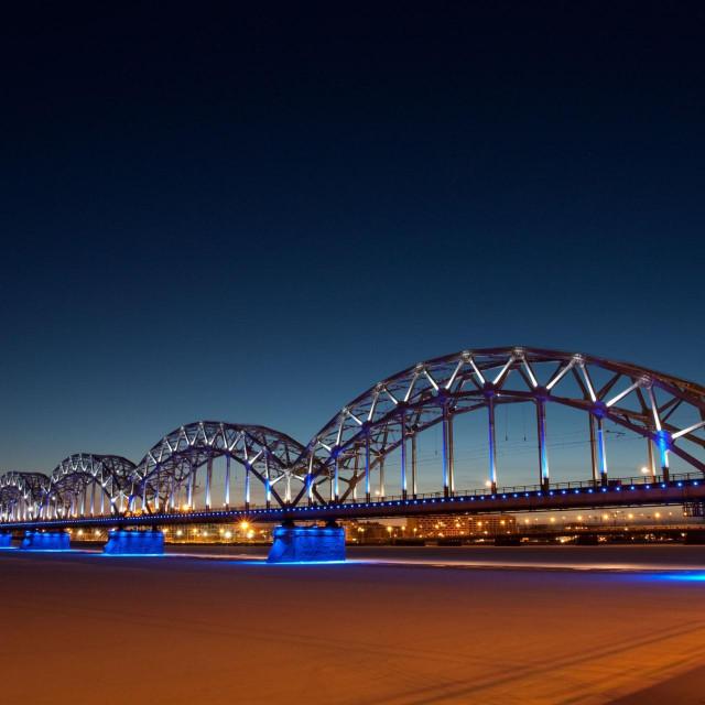 Željeznički most u Rigi, Latvija