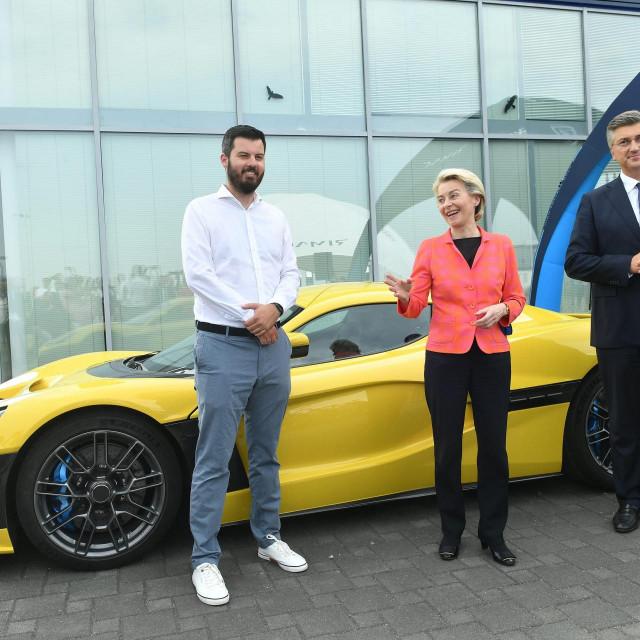Mate Rimac, Ursula von der Leyen i Andrej Plenković