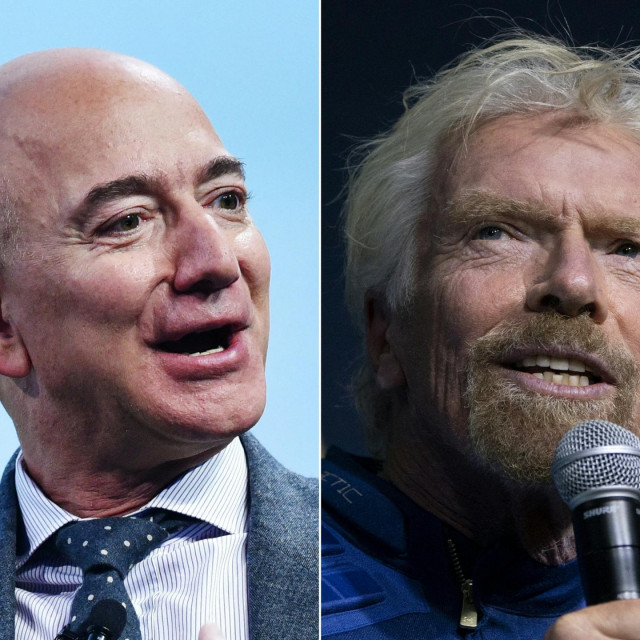Jeff Bezos i Richard Benson
