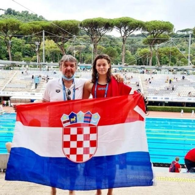 Trener Ivica Androić i velika nada Jana Pavalić