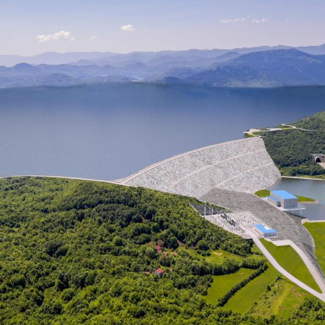 Vizualizacija buduće brane Kosinj