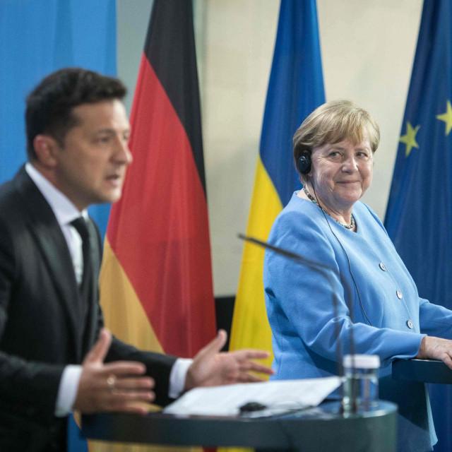 Angela Merkel i Volodimir Zelenski