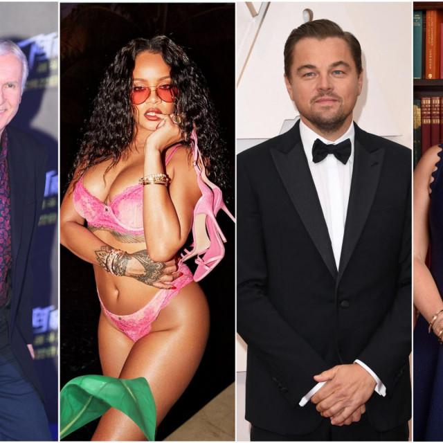 James Cameron, Rihanna, Leonardo DiCaprio, Kate Winslet
