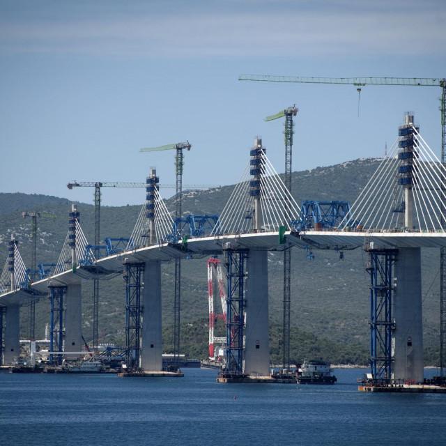 Pelješki most u izgradnji