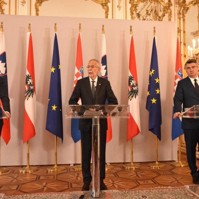 Borut Pahor, Alexander Van der Bellen i Zoran Milanović