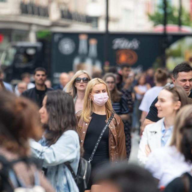 London, koronavirus, Ilustracija