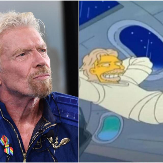 Richard Branson, uživo i u Simpsonima