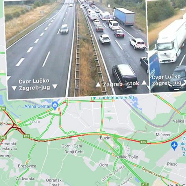 Prometni kolaps na zagrebačkoj obilaznici