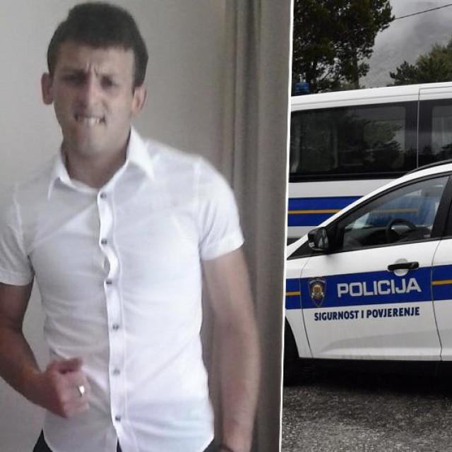 Aleksandar Nišević i policijski auto