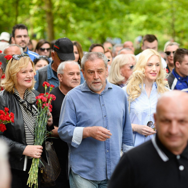 Milan Bandić na proslavi 1. svibnja u Maksimiru