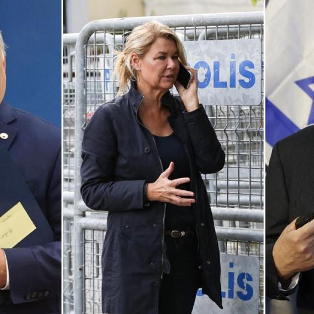 Viktor Orban (L); Benjamin Netanyahu (R)
