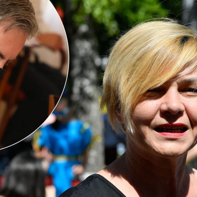 Sandra Benčić i Miroslav Škoro (u krugu)