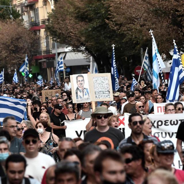 Prizori prosvjeda u Grčkoj
