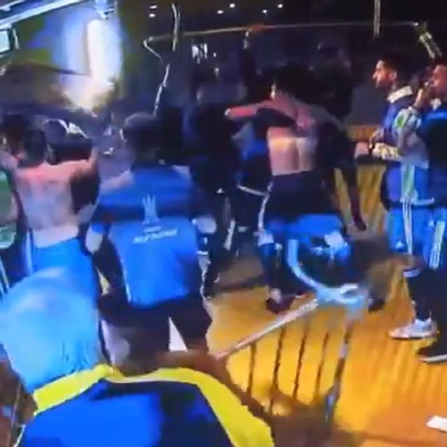 Tučnjava nakon utakmice Boca Juniorsa i Atletico Mineira