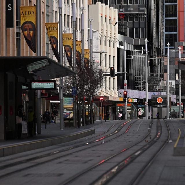 Prazne ulice Sydneya tijekom lockdowna
