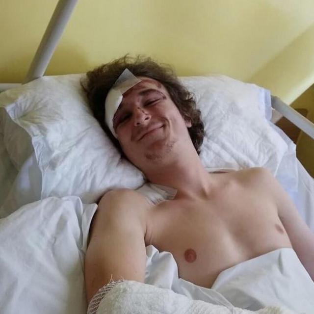 Jan Kovačić u bolnici nakon nesreće 2018.