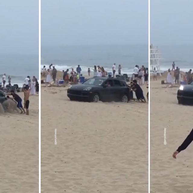 Porsche u pijesku