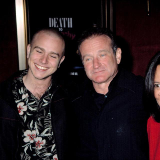 Robin Williams sa sinom Zakom i suprugom Marshom