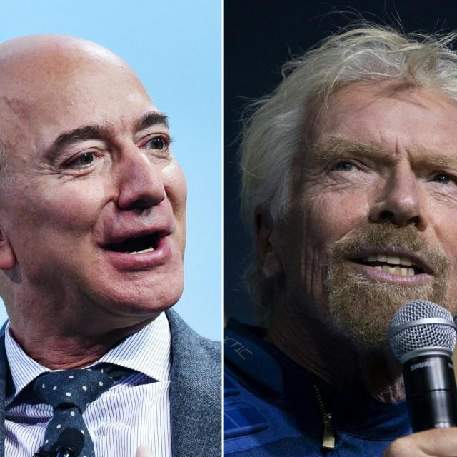 Jeff Bezos i Sir Richard Branson